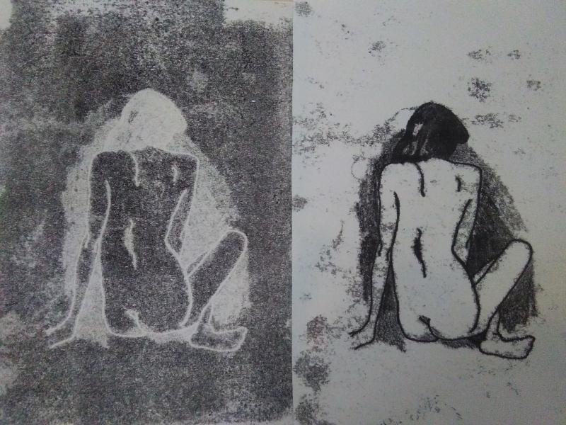 Monotype-prent-lesje-resultaat-van-student